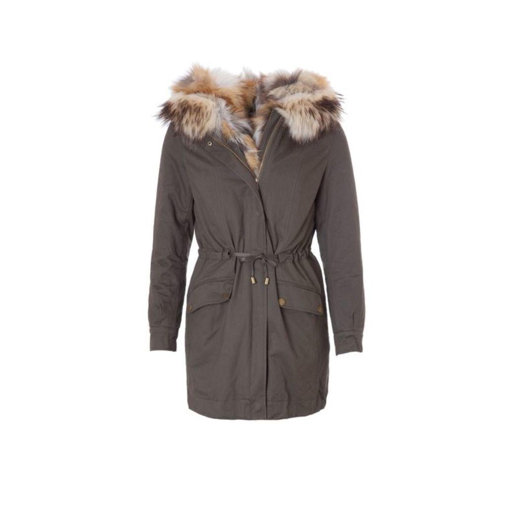 On Parle De Vous Parka With Fur