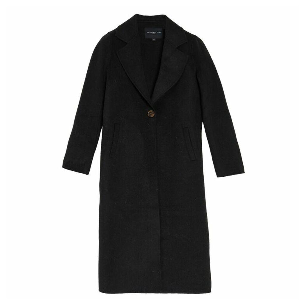 On Parle De Vous Long Coat In Woollen Cloth