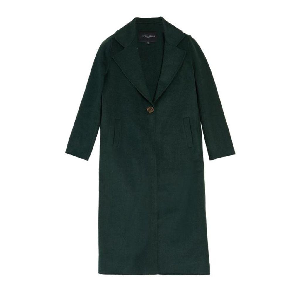 On Parle De Vous Long Coat In Woolen Cloth