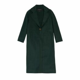 On Parle De Vous Long Coat In Woolen Cloth