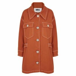 MM6 By Maison Margiela Terracotta Oversized Denim Coat