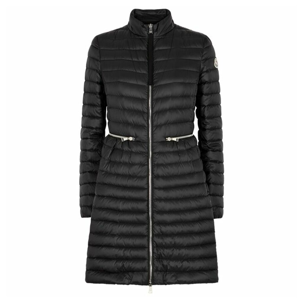 Moncler Agatelon Black Quilted Shell Coat