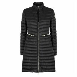 Moncler Agatelon Black Quilted Shell Coat