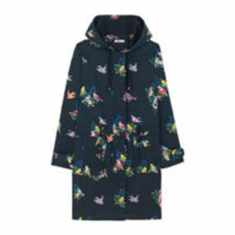 Spaced Spring Birds Printed Parka