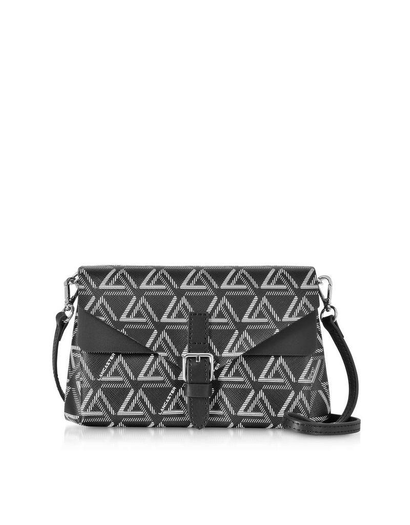 Lancaster Paris Designer Handbags, Ikon Mini Clutch w/Shoulder Strap