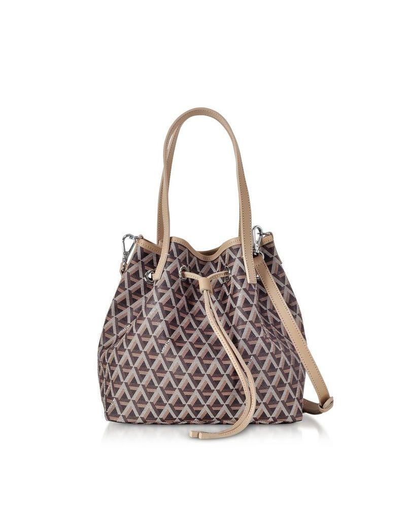 Lancaster Paris Designer Handbags, Ikon Small Top Handles Bucket Bag