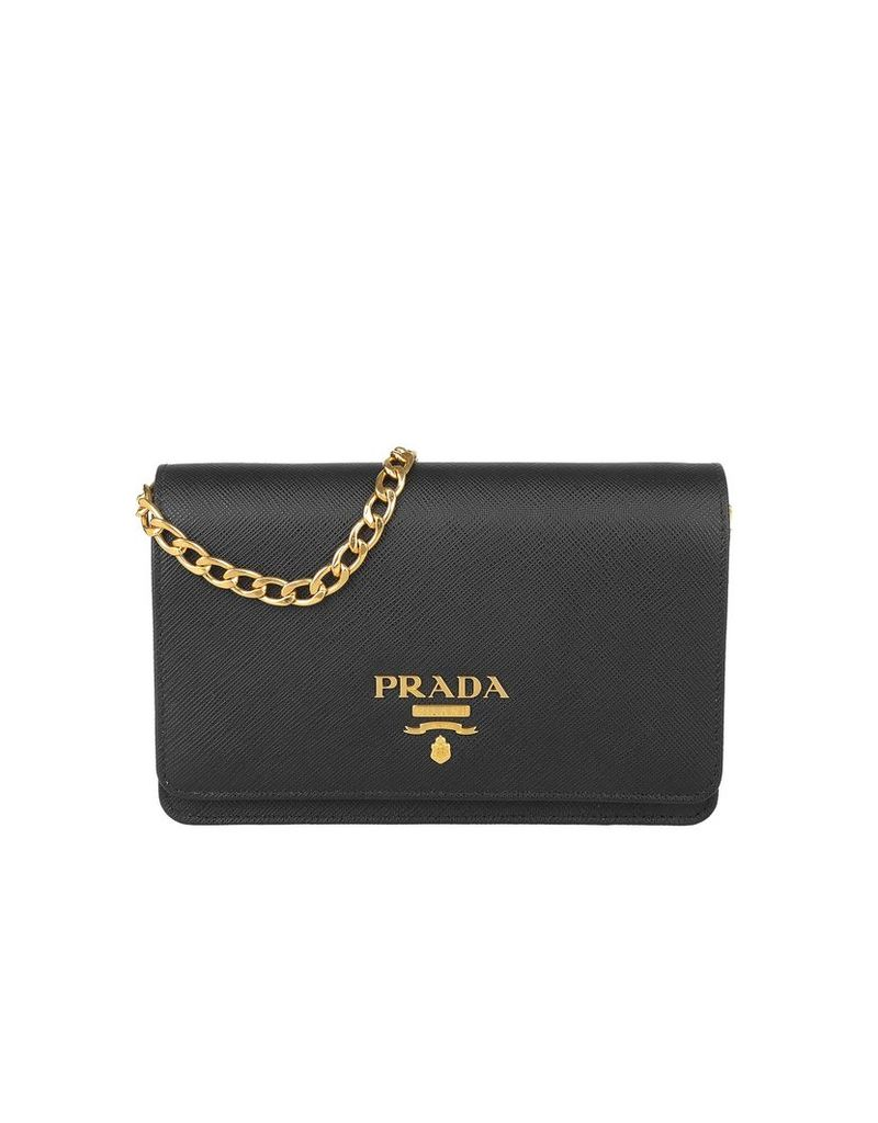 Prada Designer Handbags, Shoulder Bag Saffiano Lux Nero