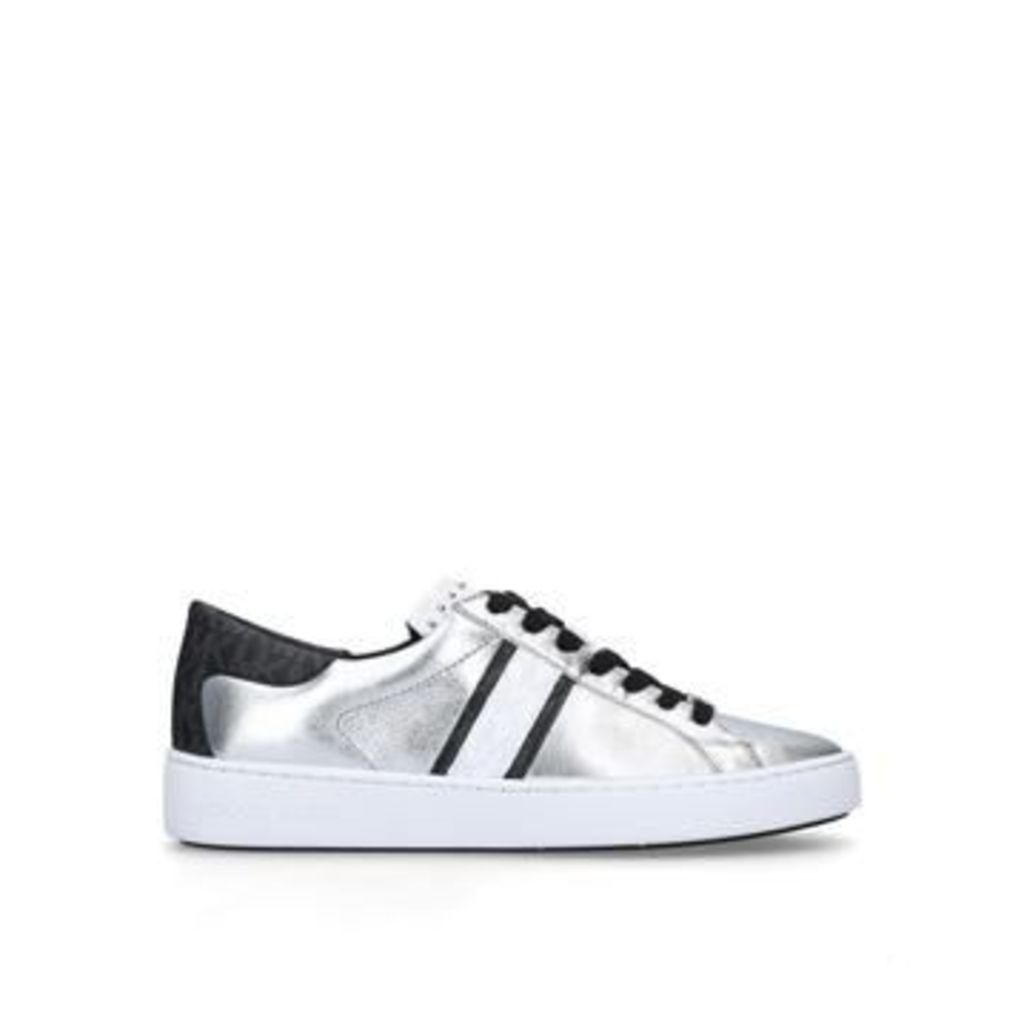 Michael Michael Kors Keaton Stripe Sneaker - Black And Silver Low Top Trainers