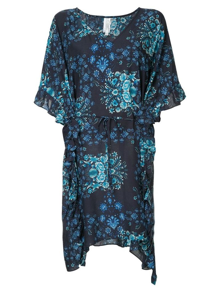 Seafolly Sunflower Ruffle Kaftan - Blue