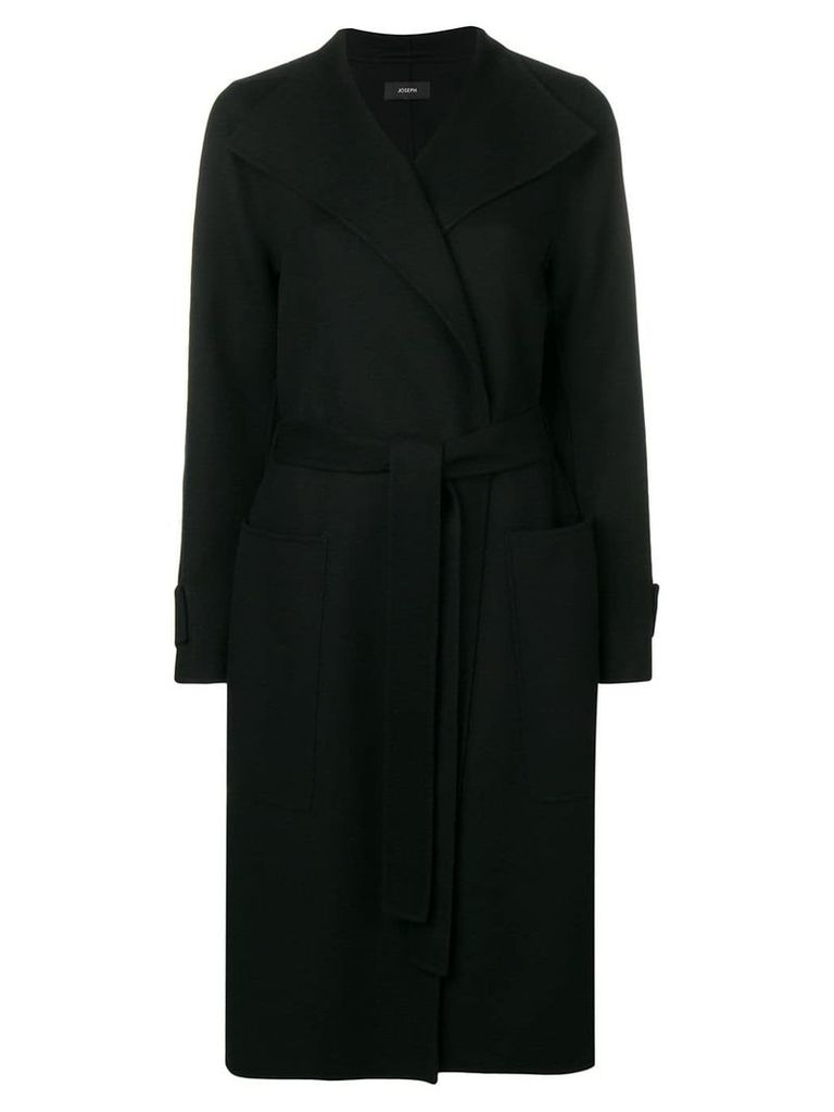 Joseph belted robe coat - Black