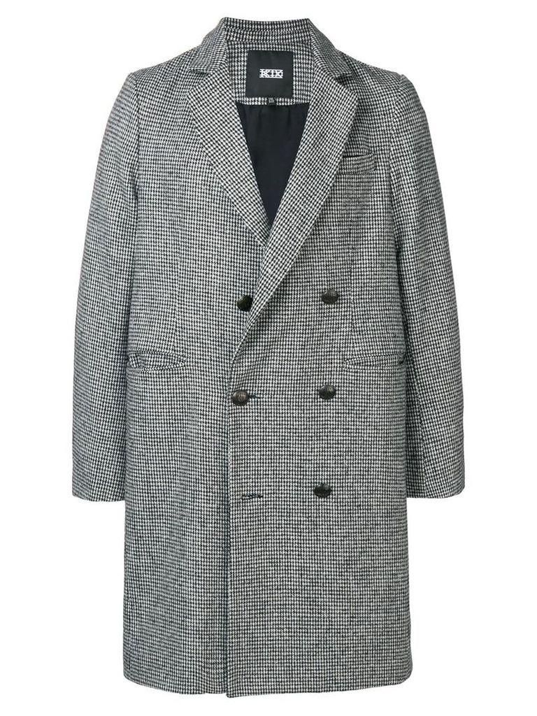 KTZ structured long coat - Black