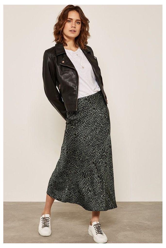 Womens Mint Velvet Philippa Satin Slip Skirt -  Natural