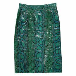 Python mid-length skirt