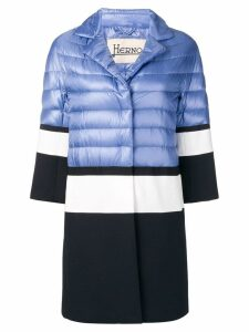 Herno contrast padded coat - Blue