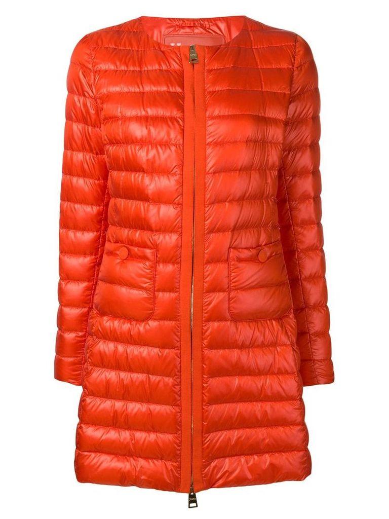 Herno padded zipped coat - Orange