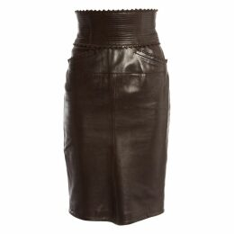 Leather skirt suit