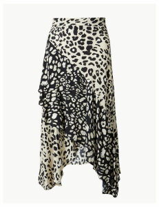 M&S Collection Animal Print Wrap Style Midi Skirt