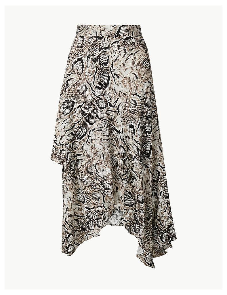 M&S Collection Animal Print Wrap Style Skirt