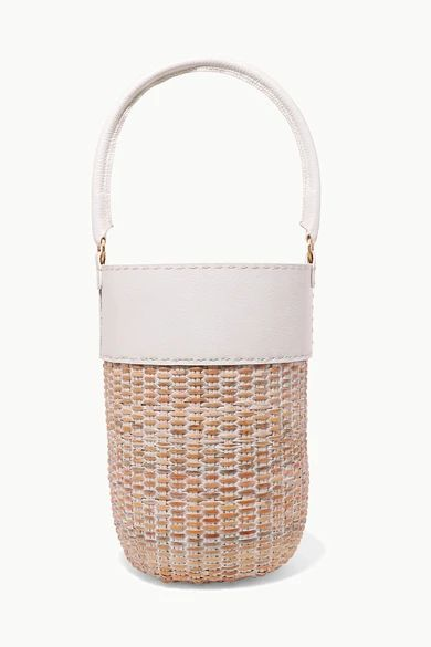 Kayu - Lucie Leather And Straw Tote - White