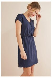 Womens Next Navy Wrap Dress -  Blue