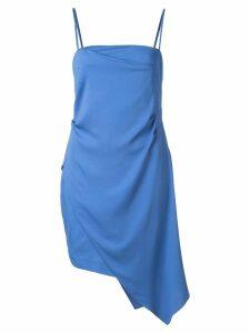 Michelle Mason asymmetrical drape mini dress - Blue