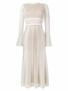 Alexander McQueen embroidered midi dress - Neutrals