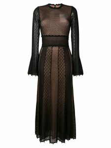 Alexander McQueen embroidered midi dress - Black