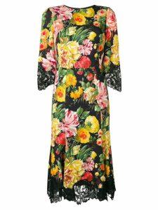 Dolce & Gabbana floral midi dress - Black