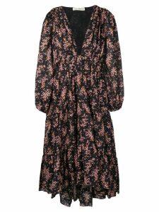 Ulla Johnson floral print midi dress - Black