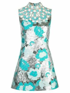 Michael Kors Collection brocade embroidered shift dress - Blue
