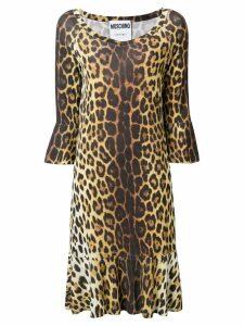 Moschino leopard print midi dress - Brown