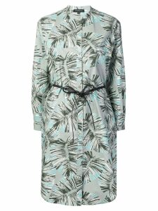 Antonelli leaf print shirt dress - Grey