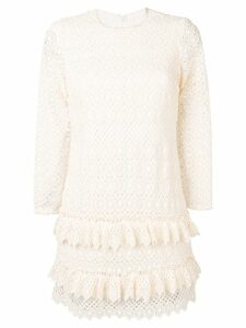 Philosophy Di Lorenzo Serafini ruffle detail crochet dress - White