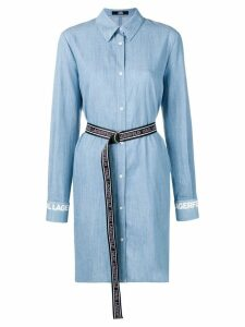 Karl Lagerfeld mini shirt dress - Blue