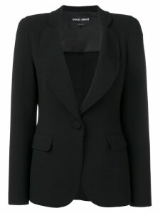 Giorgio Armani single-breasted blazer - Black