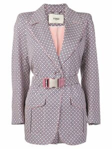 Fendi printed structured blazer - Blue