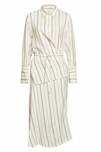 Joseph Striped Wrap Dress with Cotton