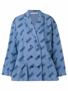 Acne Studios Double breasted blouse jacket - Blue