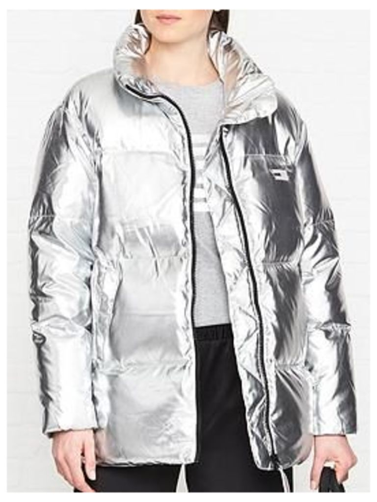 Tommy Hilfiger Icon High Gloss Padded Jacket - Silver