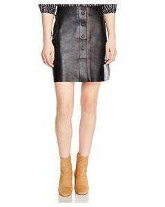 Sandro Milla Leather Skirt