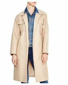 Sandro Victoire Denim Underlay Trench Coat