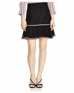 Sandro Richard Chain-Link Lace Skirt