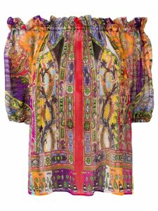 Etro abstract print blouse - Red