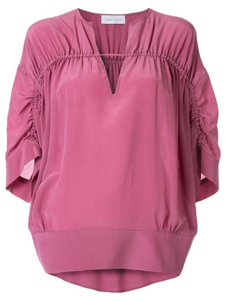 Christian Wijnants gathered detail blouse - Purple