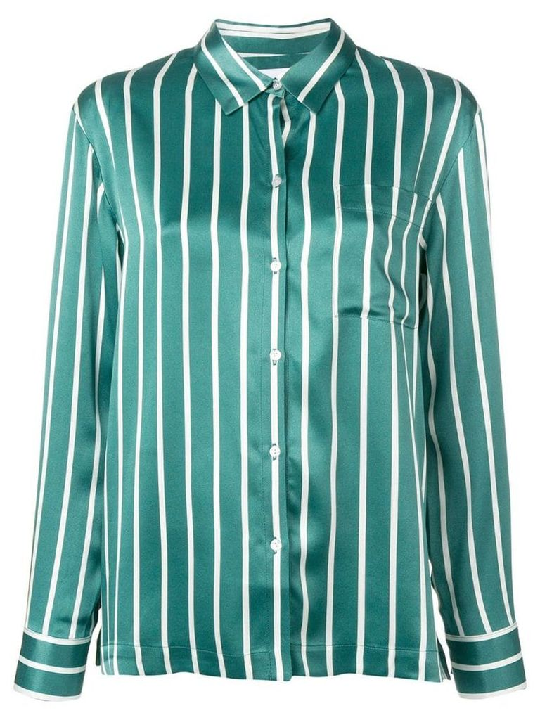 Asceno striped pj shirt - Green
