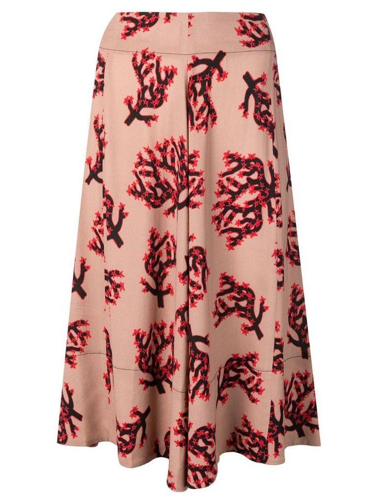 Marni branch print skirt - Neutrals