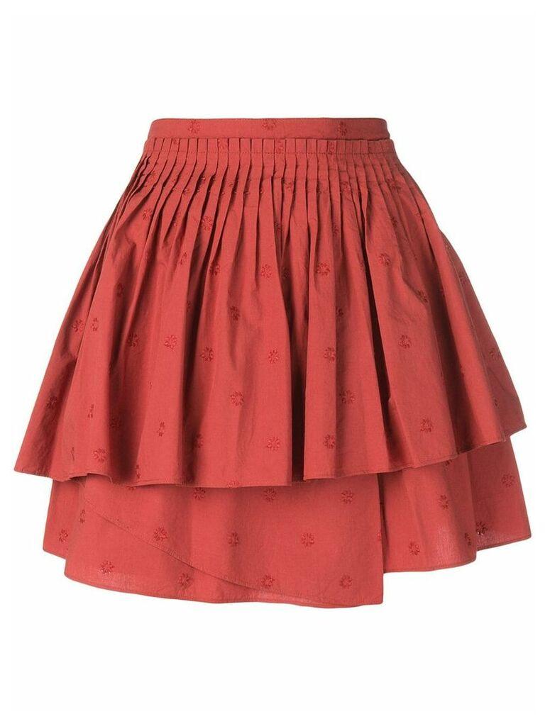 Ulla Johnson ruffled mini dress - Red
