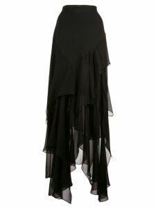 Michael Kors Collection scarf skirt - Black