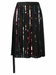 Marco De Vincenzo sequin striped skirt - Black