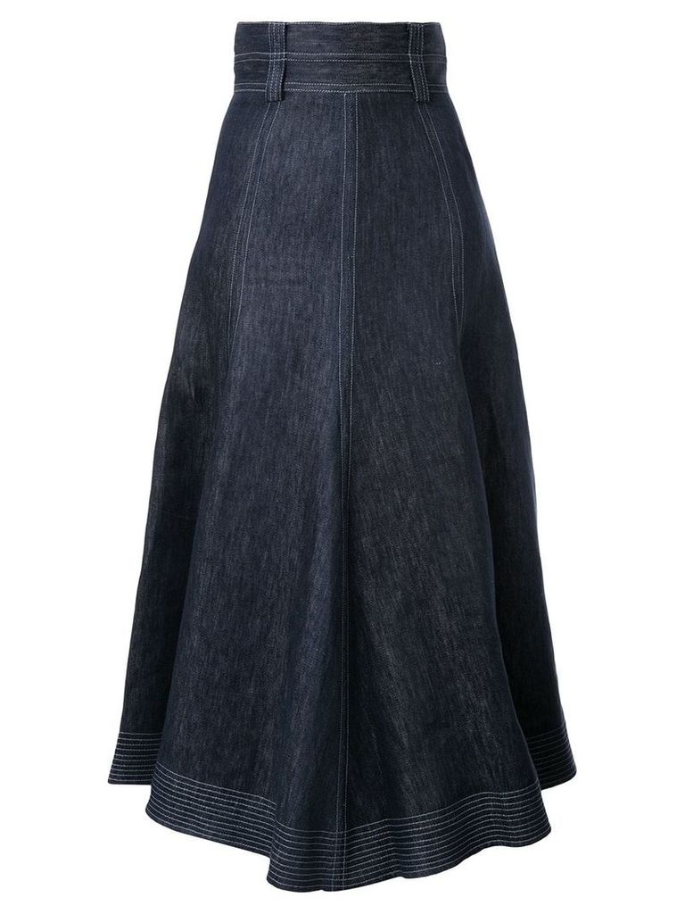 Gabriela Hearst high-waisted denim skirt - Blue